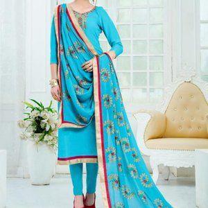 Three piece churidar style indian suit size M